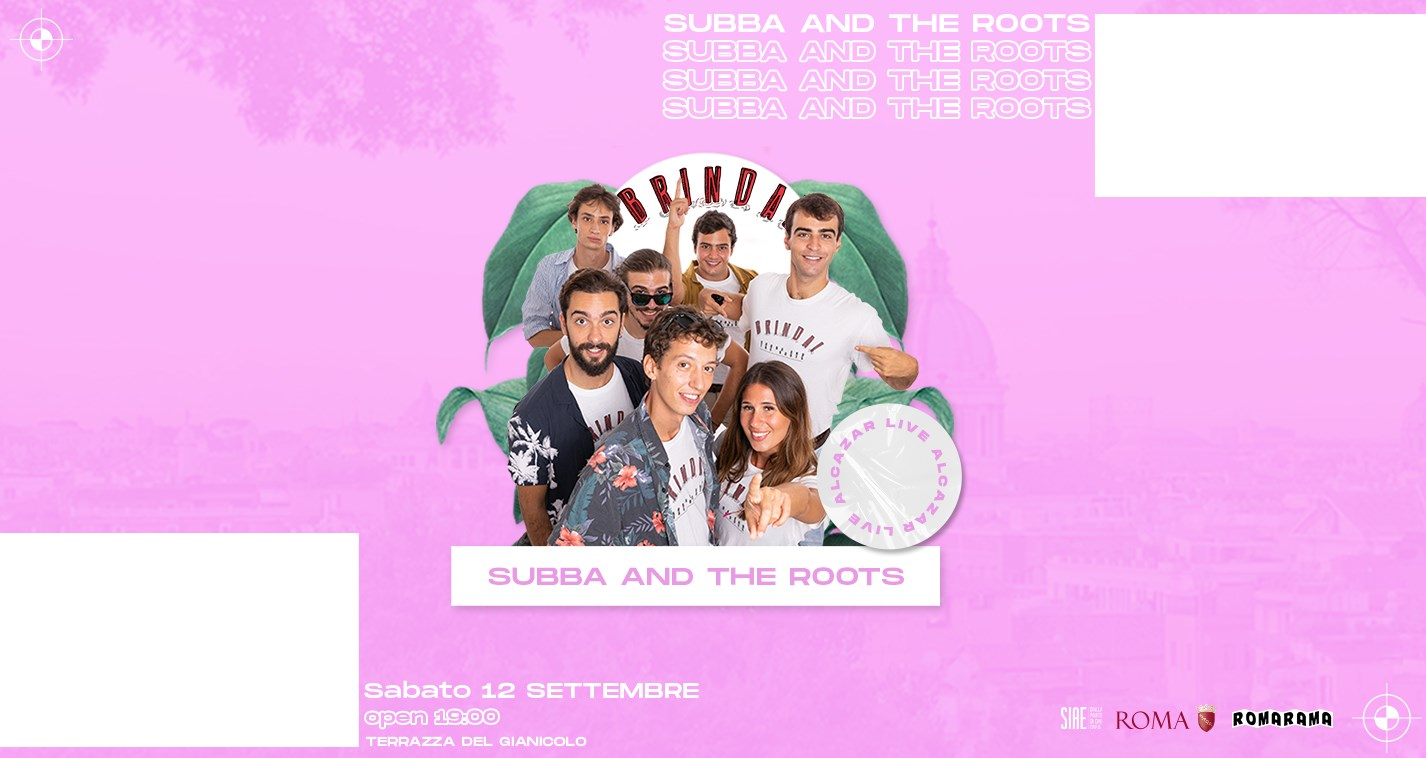 Terrazza Gianicolo sabato 12 settembre 2020 Subba and the Roots