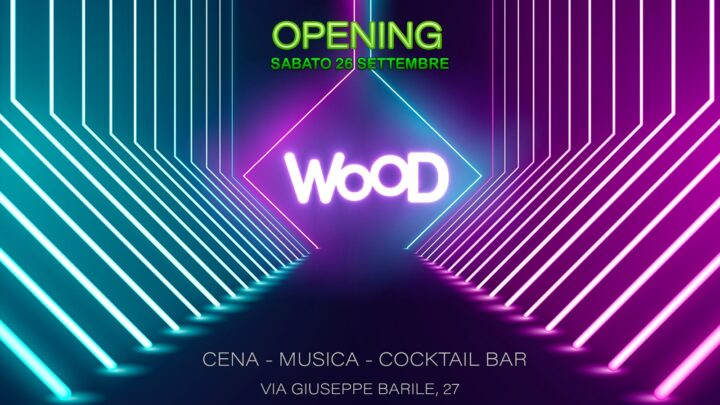 WOOD Roma sabato 26 settembre 2020