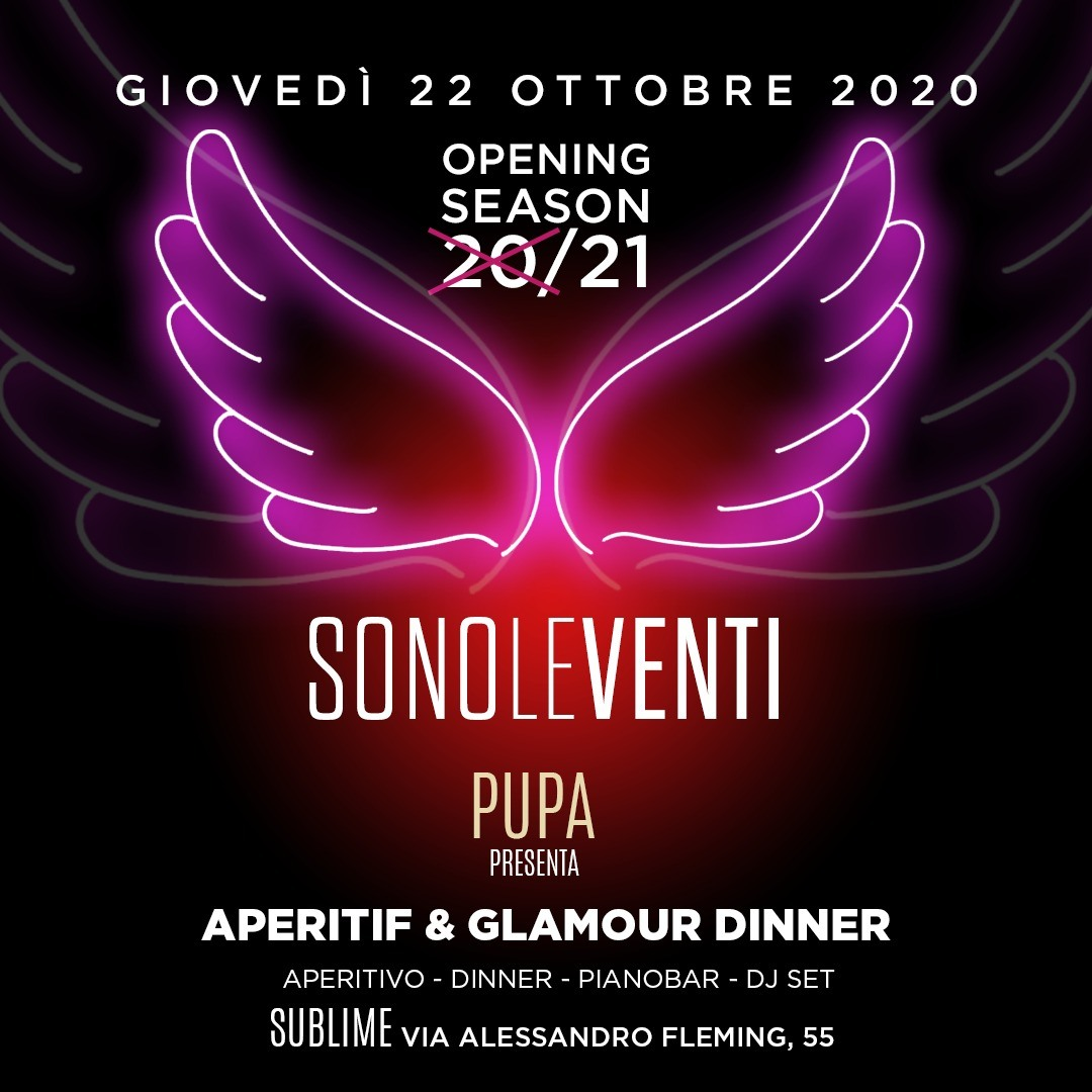 La Villa Sublime giovedì 22 ottobre 2020. Aperitif e glamour dinner #SONOLEVENTI info 3423571686