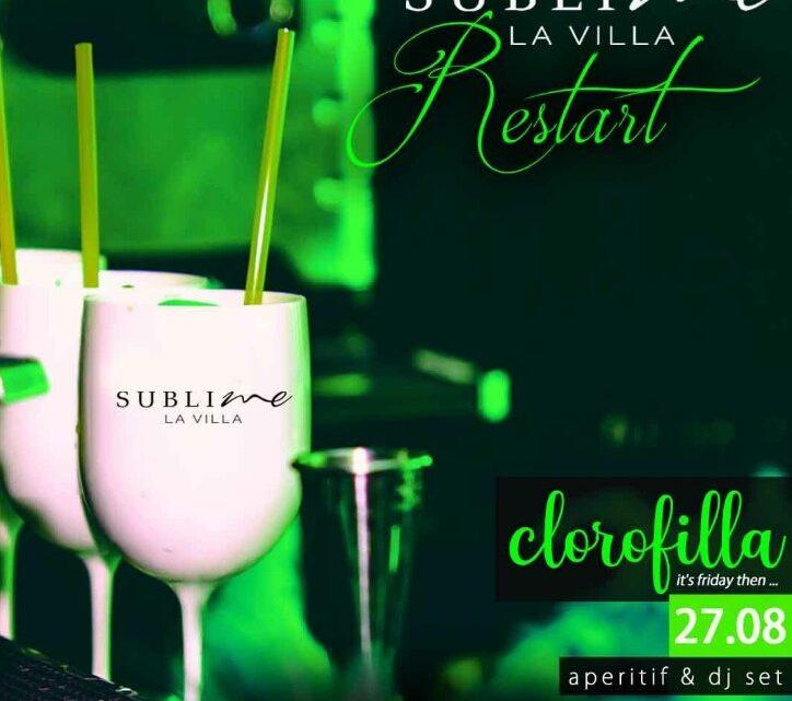 Aperitivo La Villa Sublime venerdì 27 agosto SUBLIME