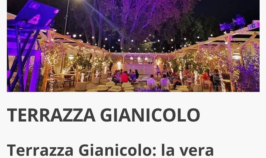 Terrazza Gianicolo mercoledì 8 settembre Aperitivo Cena Djset
