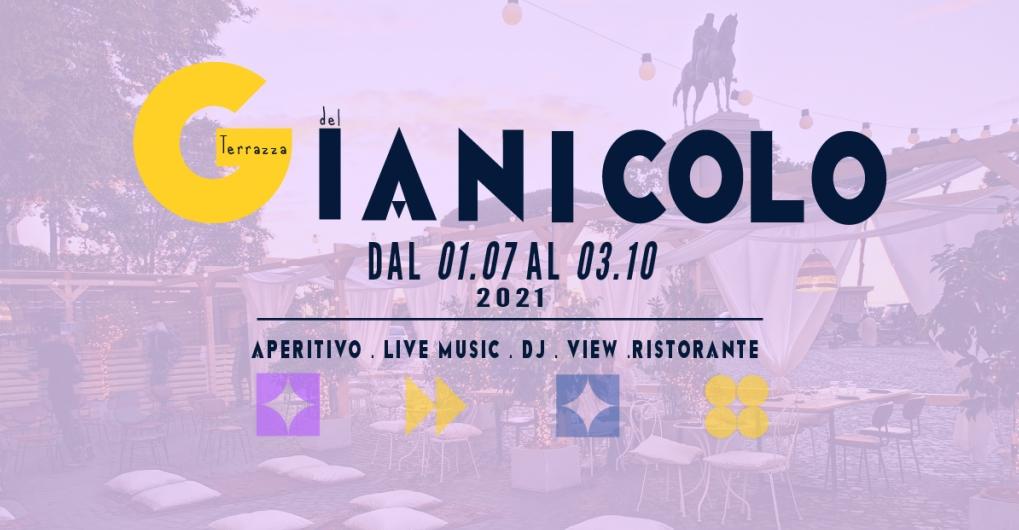 Terrazza Gianicolo venerdì 10 settembre Aperitivo con vista