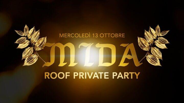 MIDA Roof Private Party mercoledi 13 ottobre 2021